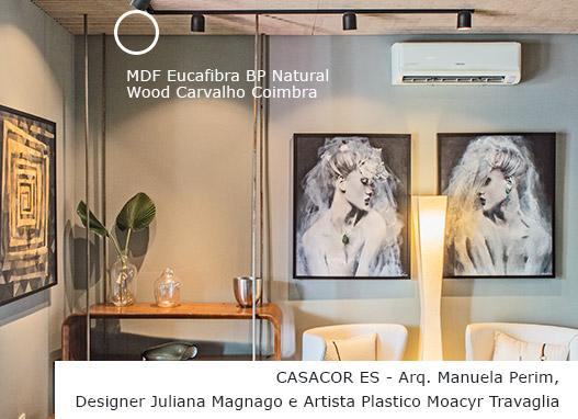 CASACOR ES - Arq. Manuela Perim, Designer Juliana Magnago e Artista Plástico Moacyr Travaglia